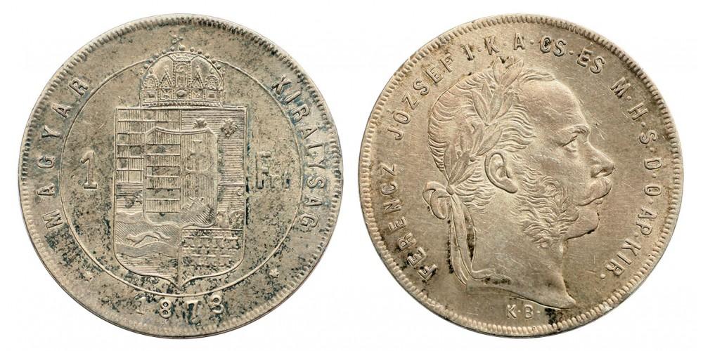 Ferenc József 1 Forint 1873 KB