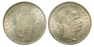 Ferenc József 1 Forint 1879 KB