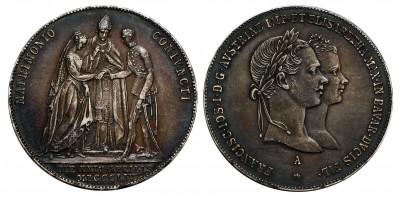Ferenc József házassági gulden 1854 A