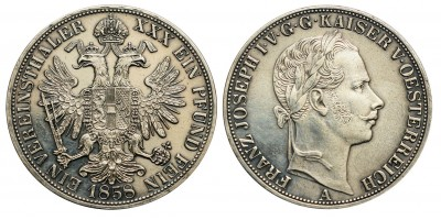 Ferenc József  Vereinsthaler 1858 A