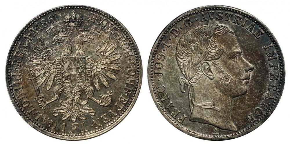 Ferenc József 1 florin 1861 A