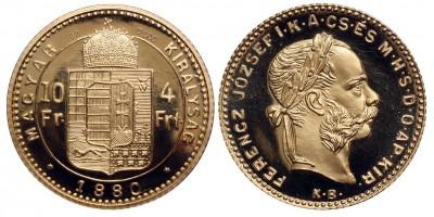 Ferenc József 4 forint 1880 KB utánveret