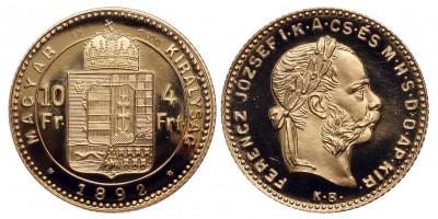 Ferenc József 4 forint 1892 KB utánveret
