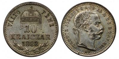 Ferenc József 10 krajcár 1888 KB