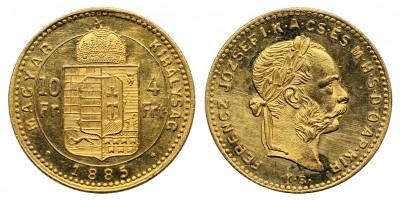 Ferenc József 4 Forint 1885 KB