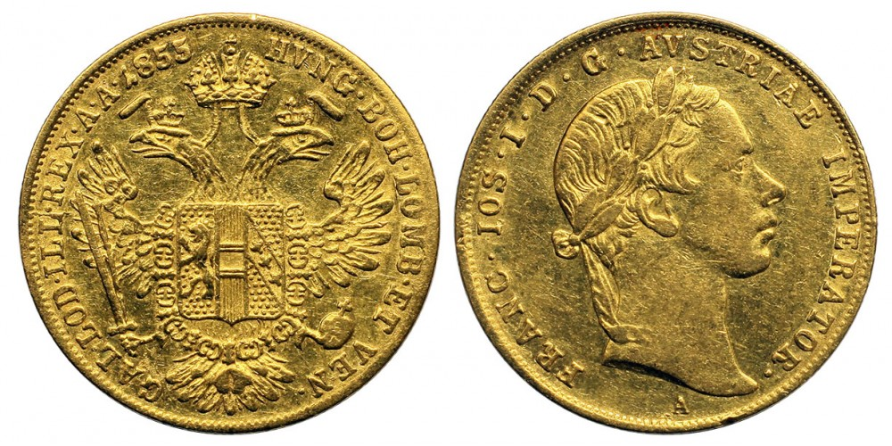 Ferenc József dukát 1855 A