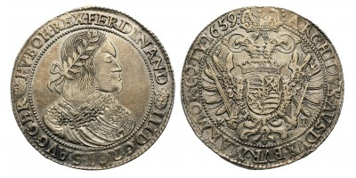 III.Ferdinánd tallér 1659 KB