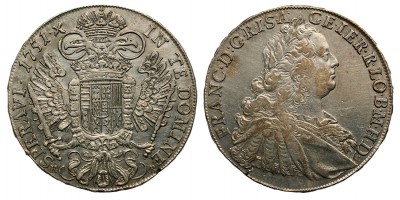 Lotharingiai Ferenc tallér 1751 KB.