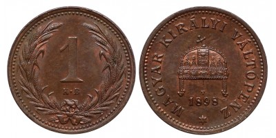 1 Fillér 1898 KB.