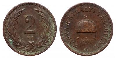 Ferenc József 2 fillér 1906 KB