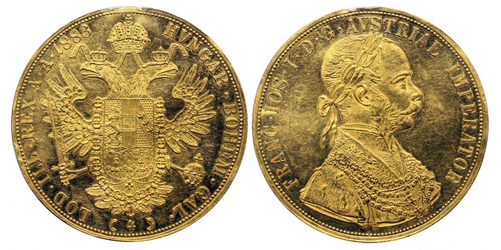 Ferenc József 4 dukát 1883 vjn.