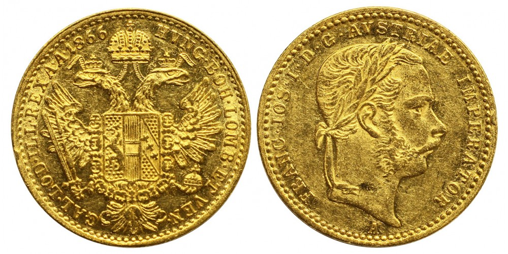 Ferenc József dukát 1866 A