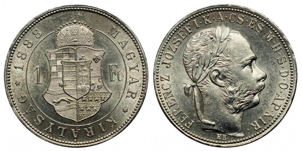 Ferenc József forint 1888 KB