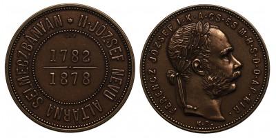 Ferenc József 1 forint 1878 KB Selmeczbánya réz utánveret