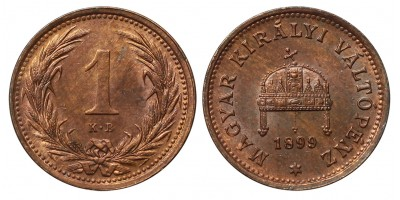 1 Fillér 1899 KB.