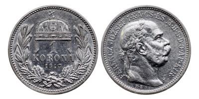 Ferenc József 1 Korona 1913 KB R!