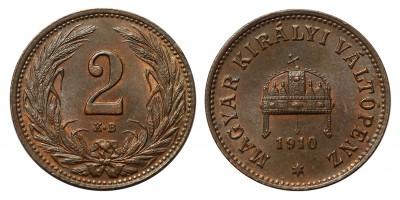 Ferenc József 2 fillér 1910 KB