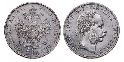 Ferenc József 2 forint 1891