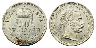 Ferenc József 10 krajcár 1873 KB.