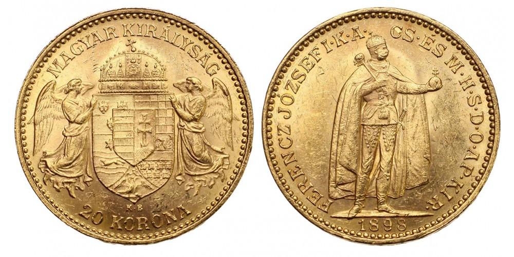 Ferenc József 20 Korona 1898