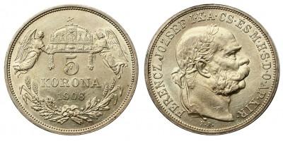 5 Korona 1908 KB.