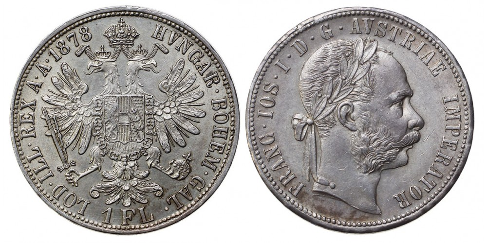 Ferenc József 1 florin 1878 vjn.