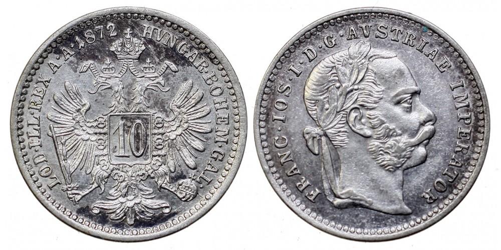 Ferenc József 10 kreuzer 1872
