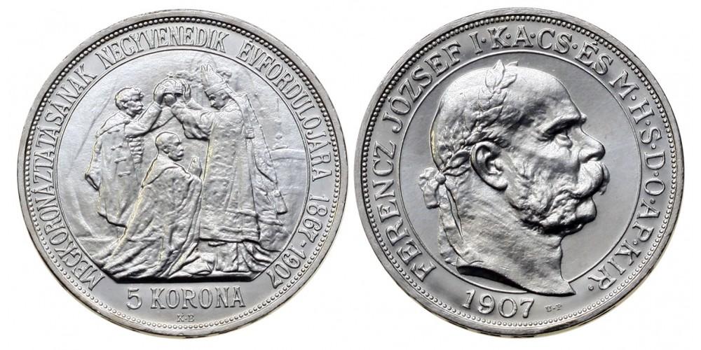 5 Korona 1907 Artex U.P. jelölt