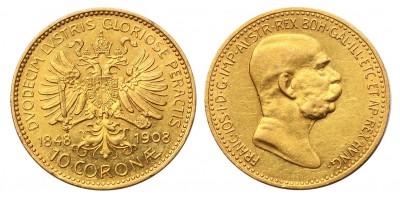 Ausztria 10 Korona 1908