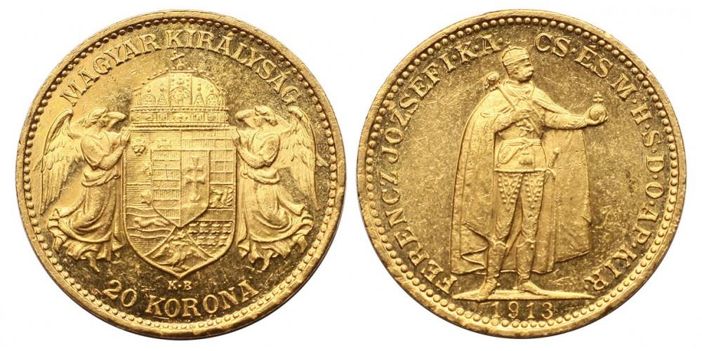 Ferenc József 20 korona 1913 KB R!