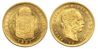 Ferenc József 4 Forint 1881 KB