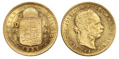 Ferenc József 4 Forint 1882 KB