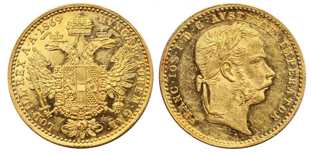 Ferenc József dukát 1869 A