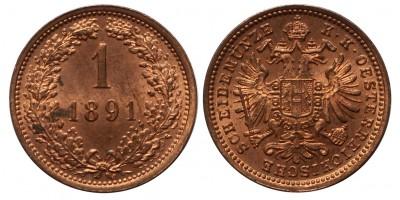 Ferenc József 1 krajcár 1891