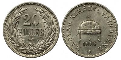 Ferenc József 20 fillér 1907 KB