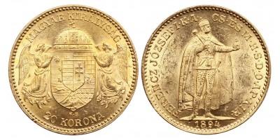 Ferenc József 20 korona 1894 KB