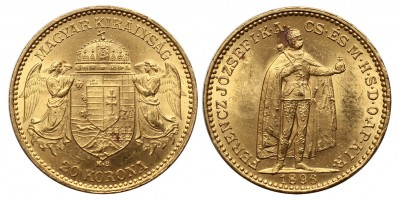Ferenc József 20 korona 1896 KB