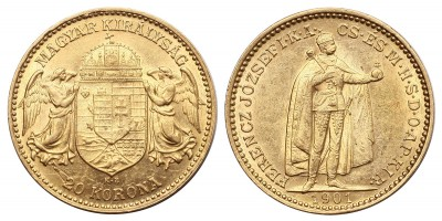 Ferenc József 20 Korona 1901 KB