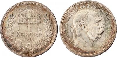 Ferenc József 1 korona 1916 KB.