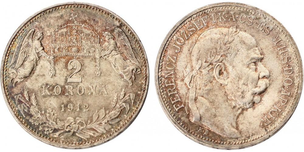 Ferenc József 2 korona 1912 KB