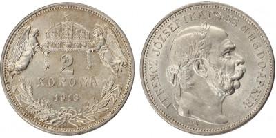 Ferenc József 2 korona 1913 KB