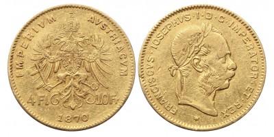 Ferenc József 4 forint 1870 jn.