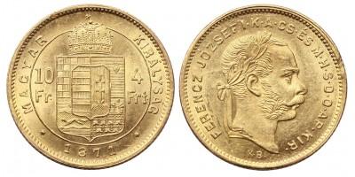Ferenc József 4 Forint 1871 KB