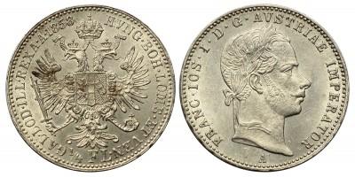 Ferenc József 1/4 florin 1858 A