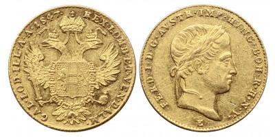 V.Ferdinánd dukát 1847 E
