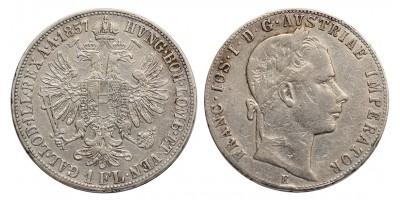 Ferenc József gulden 1857 E R!