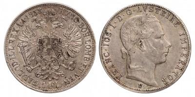 Ferenc József gulden 1858 V