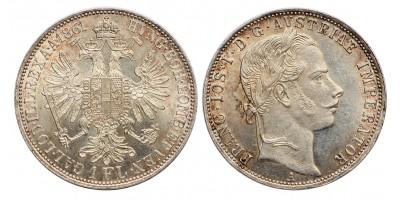 Ferenc József 1 gulden 1861 A