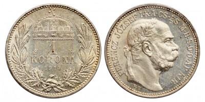 Ferenc József 1 Korona 1914 KB.
