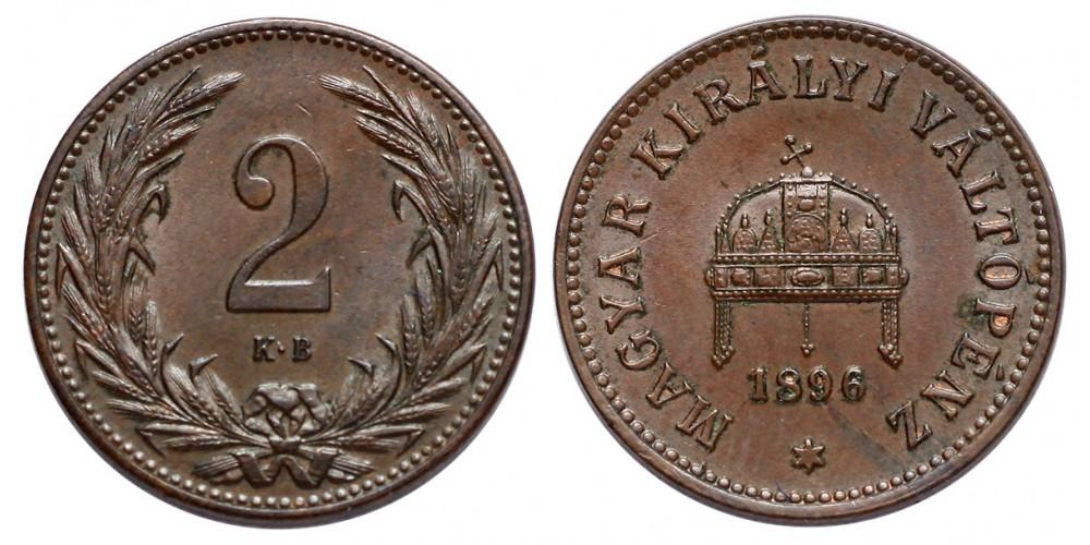 2 Fillér 1896 KB.